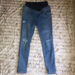 Tall Distressed ROCKSTAR style Maternity Jeans